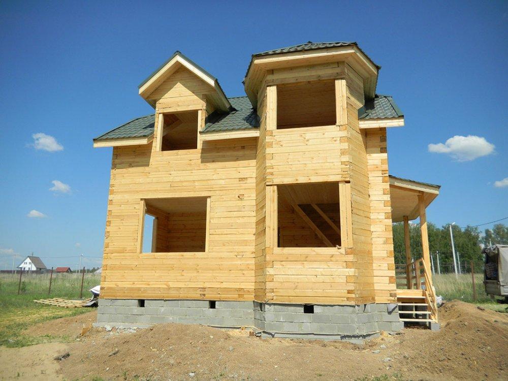 дом из профилированного бруса построенный по проекту Вариант 8 Т фотография 4811