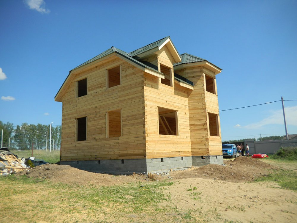 дом из профилированного бруса построенный по проекту Вариант 8 Т фотография 4810