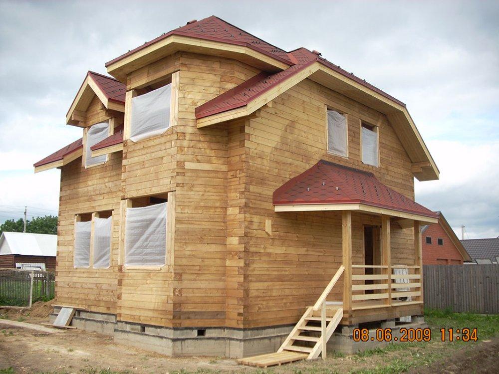 дом из профилированного бруса построенный по проекту Вариант 8 Т фотография 4812