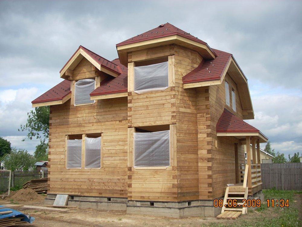 дом из профилированного бруса построенный по проекту Вариант 8 Т фотография 4813
