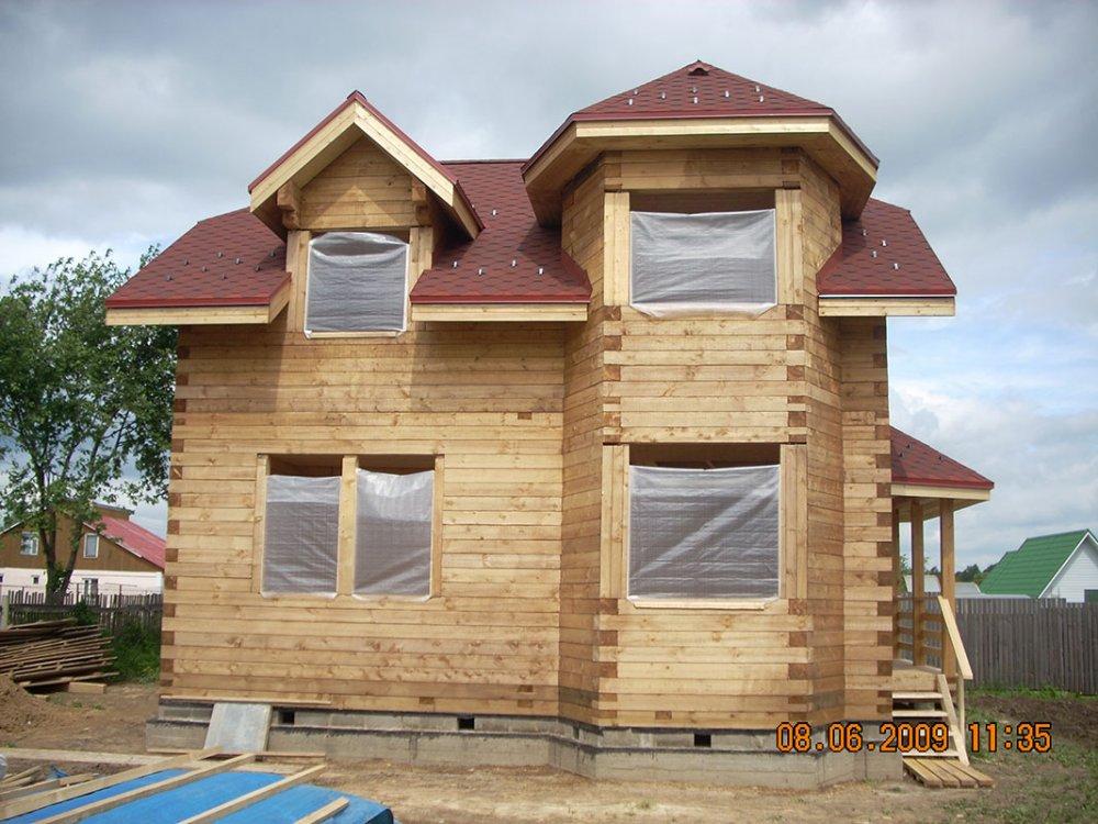 дом из профилированного бруса построенный по проекту Вариант 8 Т фотография 4814