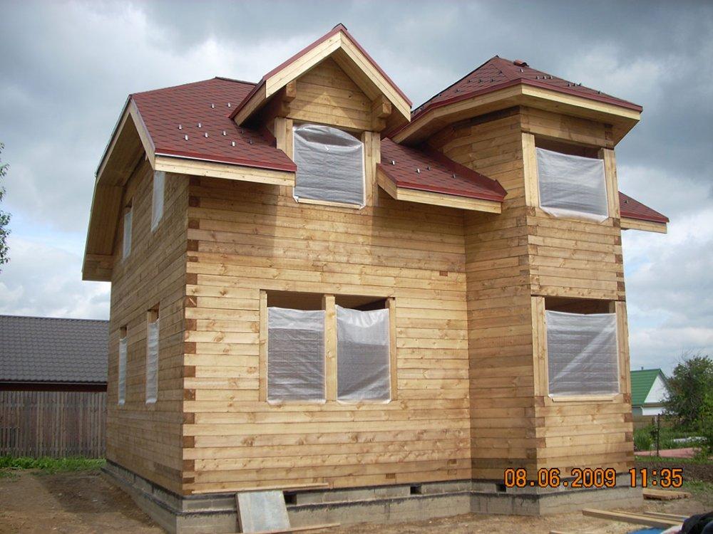дом из профилированного бруса построенный по проекту Вариант 8 Т фотография 4815