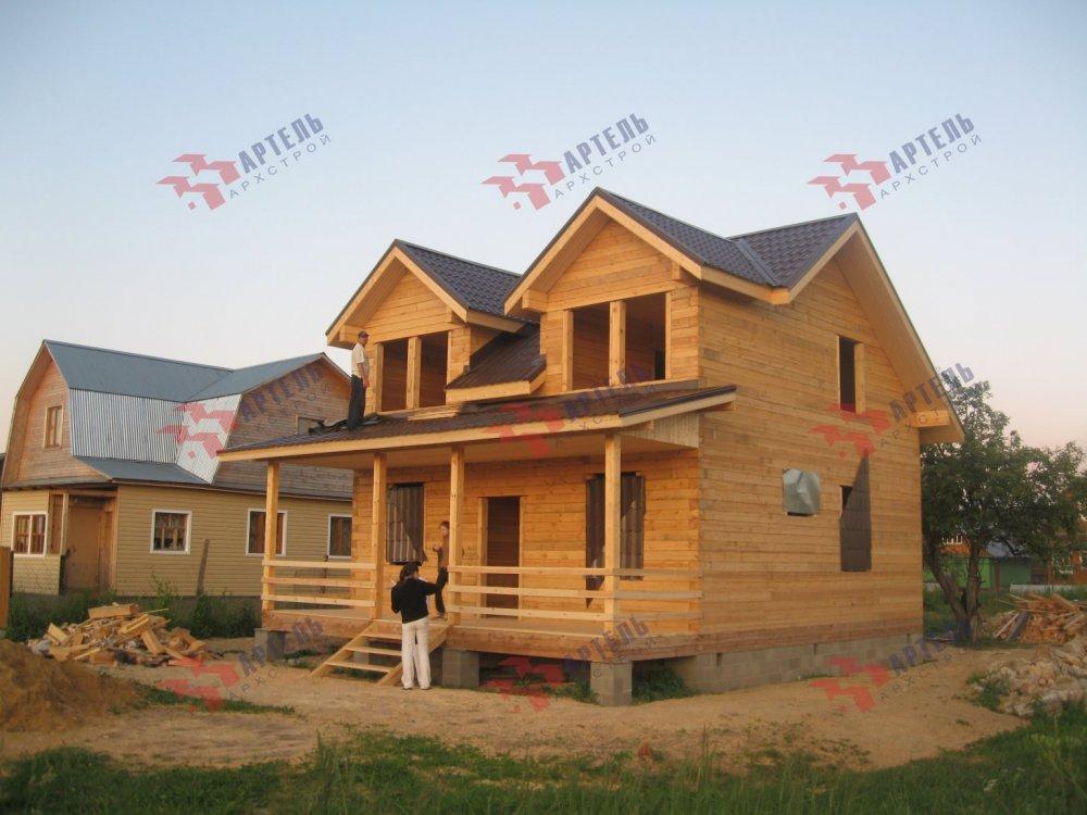дом из профилированного бруса построенный по проекту Вариант 9 О фотография 5172