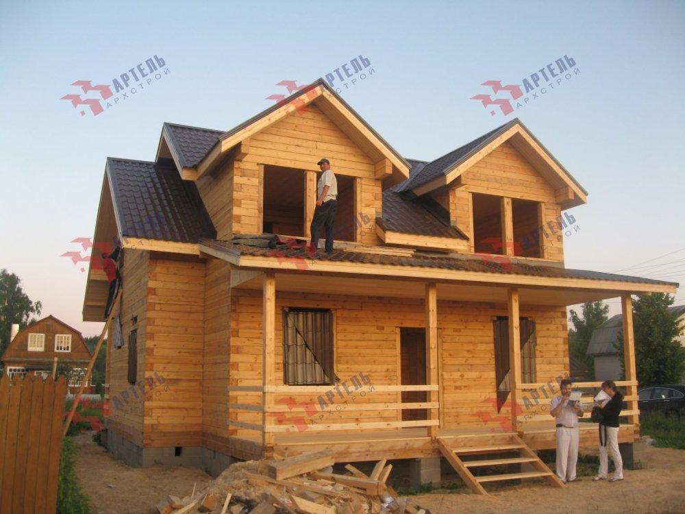 дом из профилированного бруса построенный по проекту Вариант 9 О фотография 5173