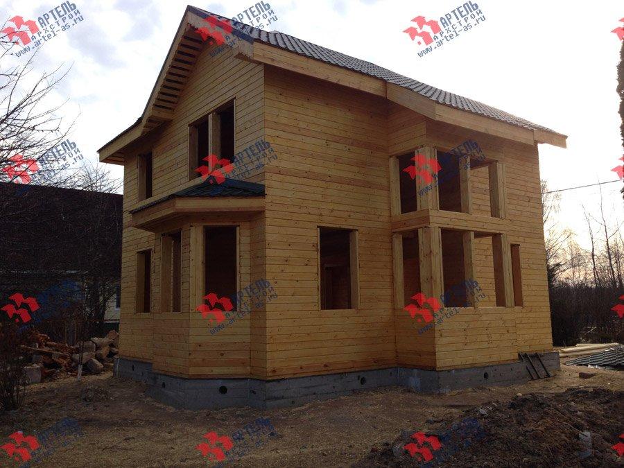 дом из профилированного бруса построенный по проекту Вариант 9.3 А фотография 3703