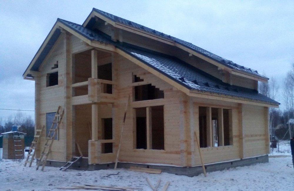 дом из профилированного бруса построенный по проекту Вариант 9.3 К фотография 4669