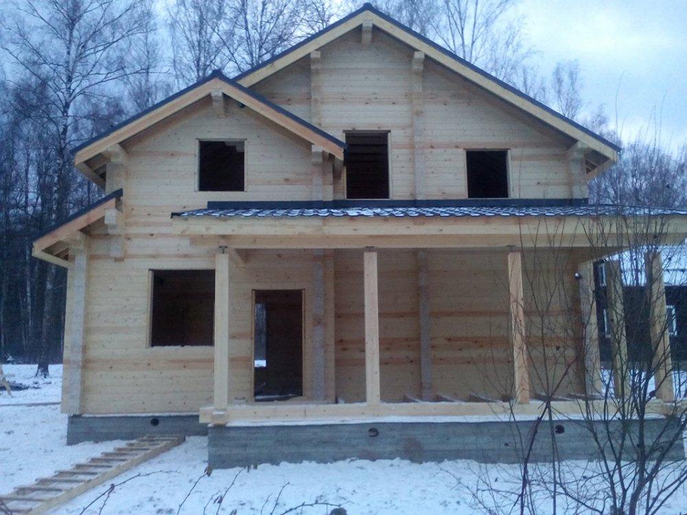 дом из профилированного бруса построенный по проекту Вариант 9.3 К фотография 4673