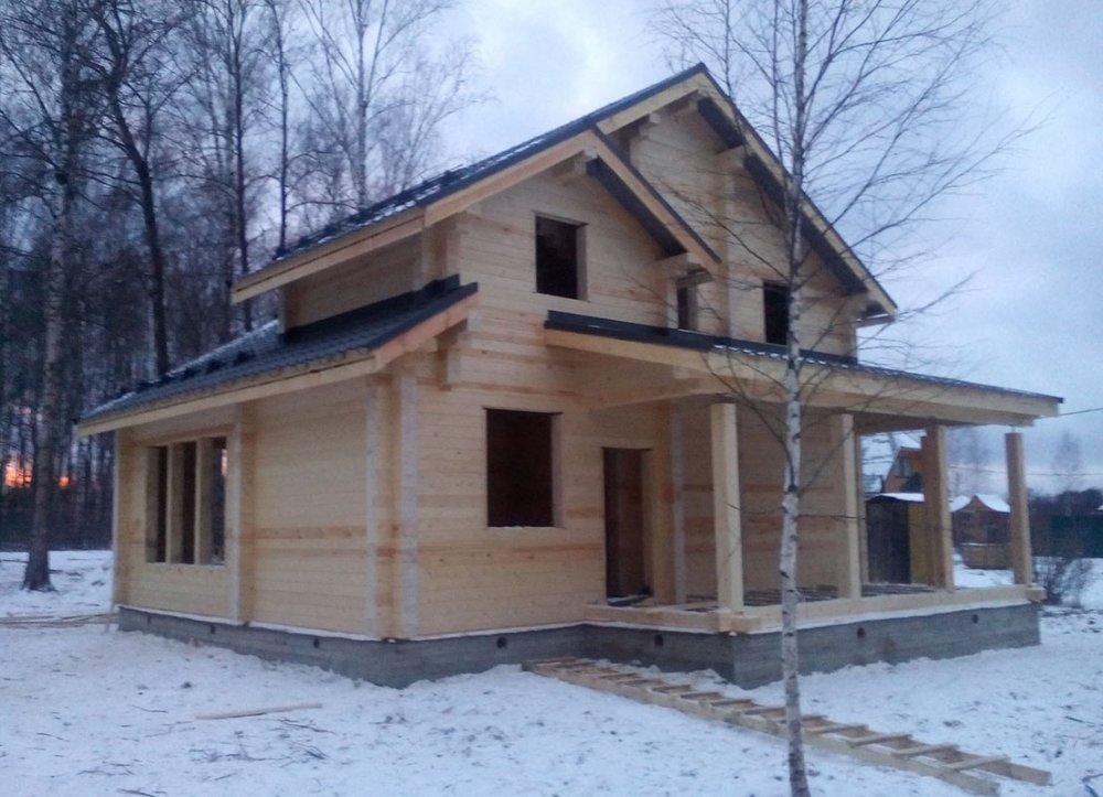 дом из профилированного бруса построенный по проекту Вариант 9.3 К фотография 4672
