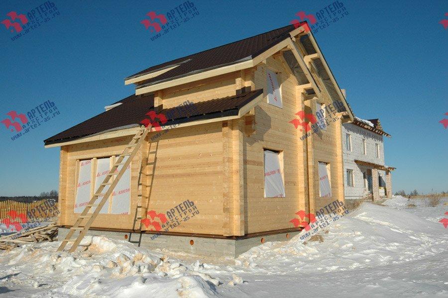 дом из профилированного бруса построенный по проекту Вариант 9.3 К фотография 3659