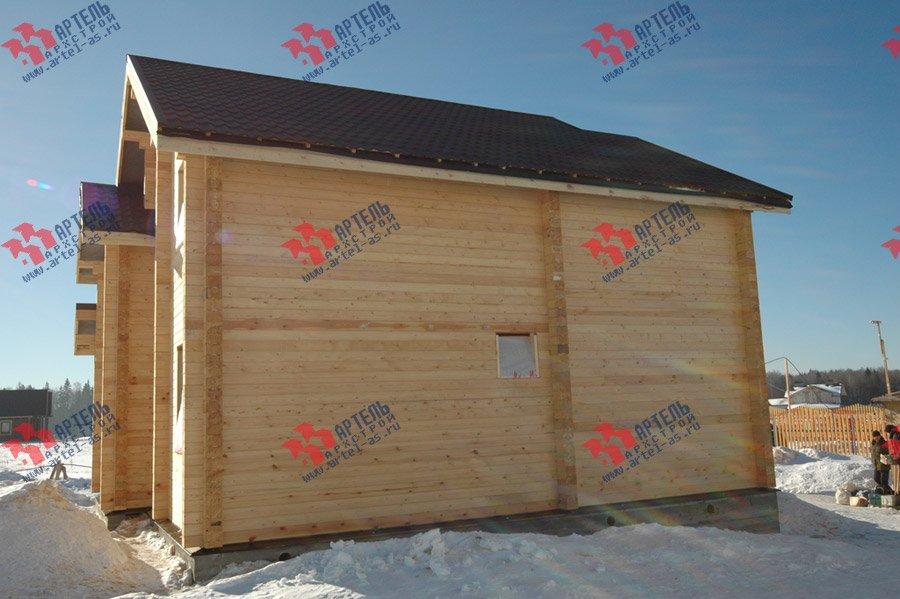 дом из профилированного бруса построенный по проекту Вариант 9.3 К фотография 3662
