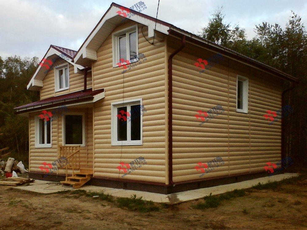 дом из бруса построенный по проекту Вариант 9.5 А фотография 3801
