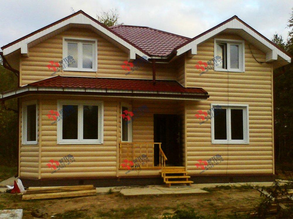 дом из бруса построенный по проекту Вариант 9.5 А фотография 3804