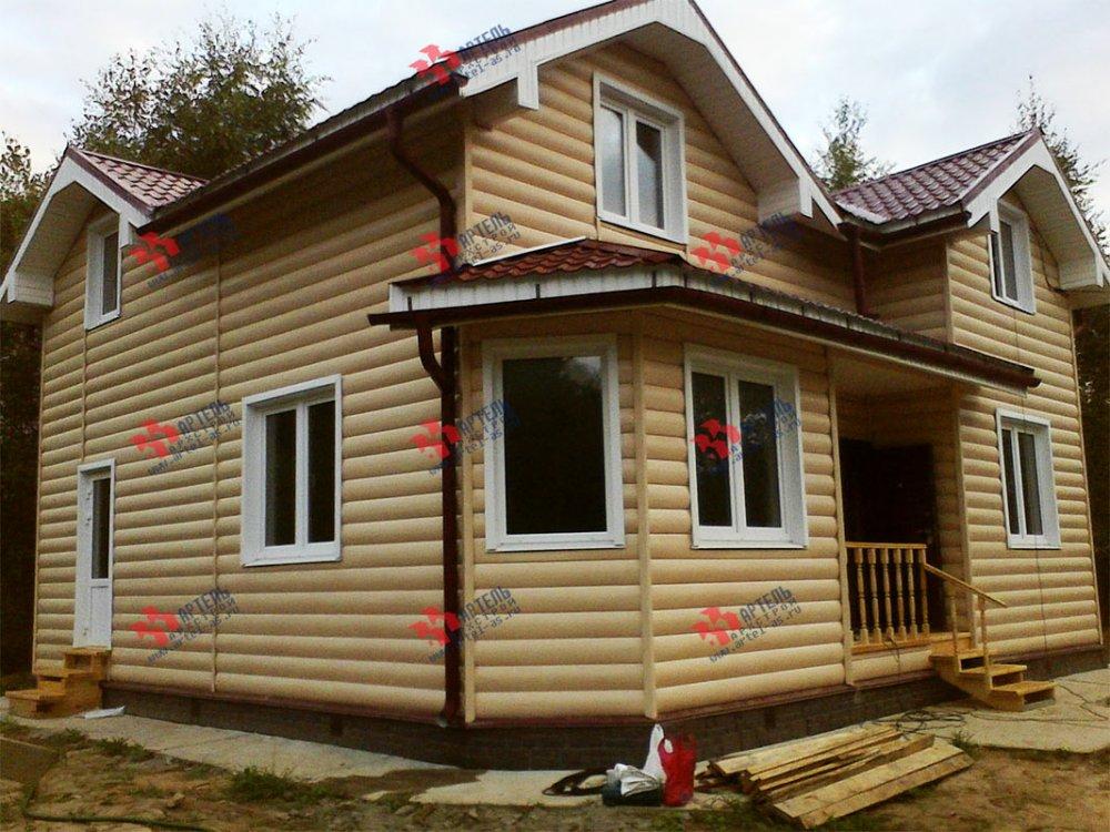 дом из бруса построенный по проекту Вариант 9.5 А фотография 3803