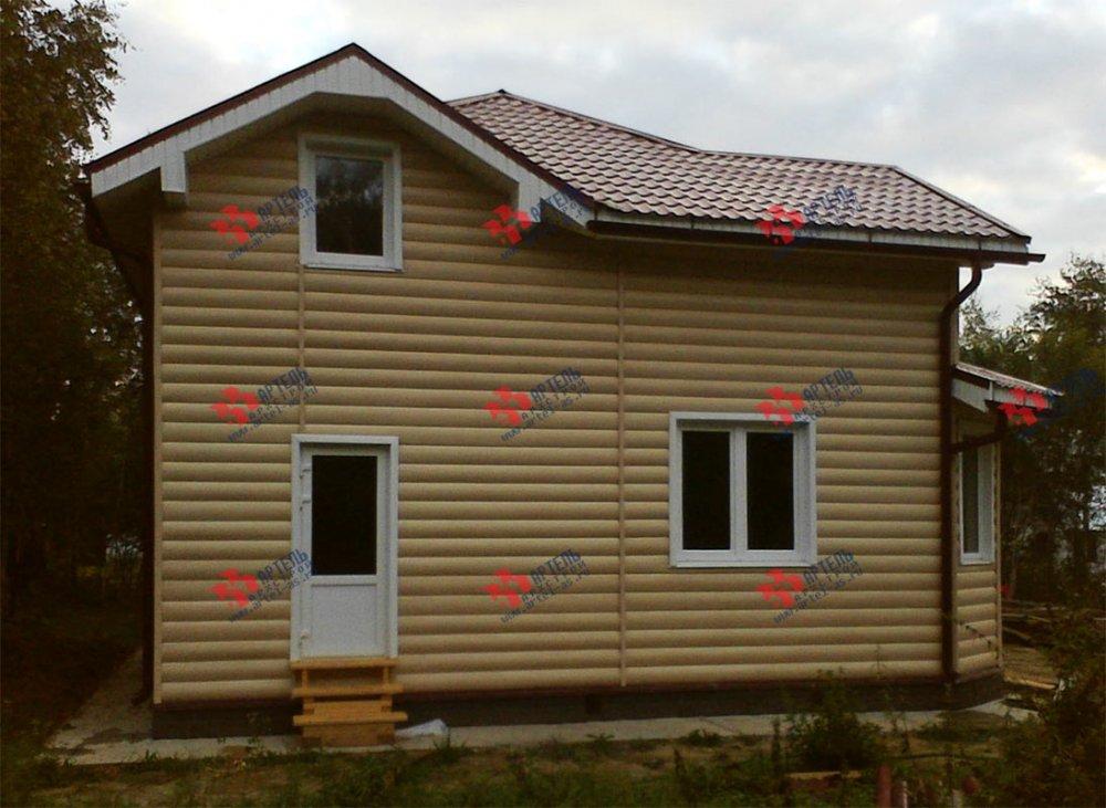 дом из бруса построенный по проекту Вариант 9.5 А фотография 3802