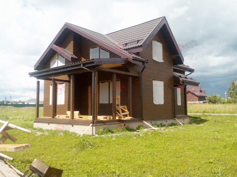 дом из профилированного бруса построенный по проекту Вариант 9.5 К фотография 4836
