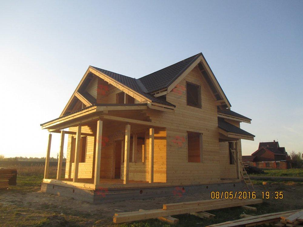 дом из профилированного бруса построенный по проекту Вариант 9.5 К фотография 4807