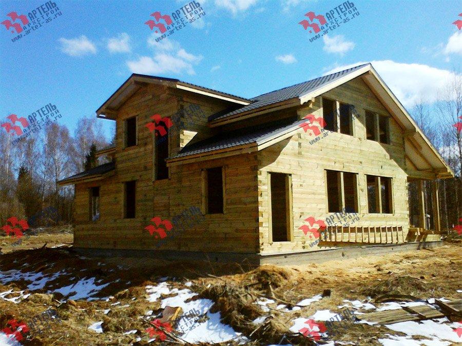 дом из профилированного бруса построенный по проекту Вариант 11 К фотография 3567