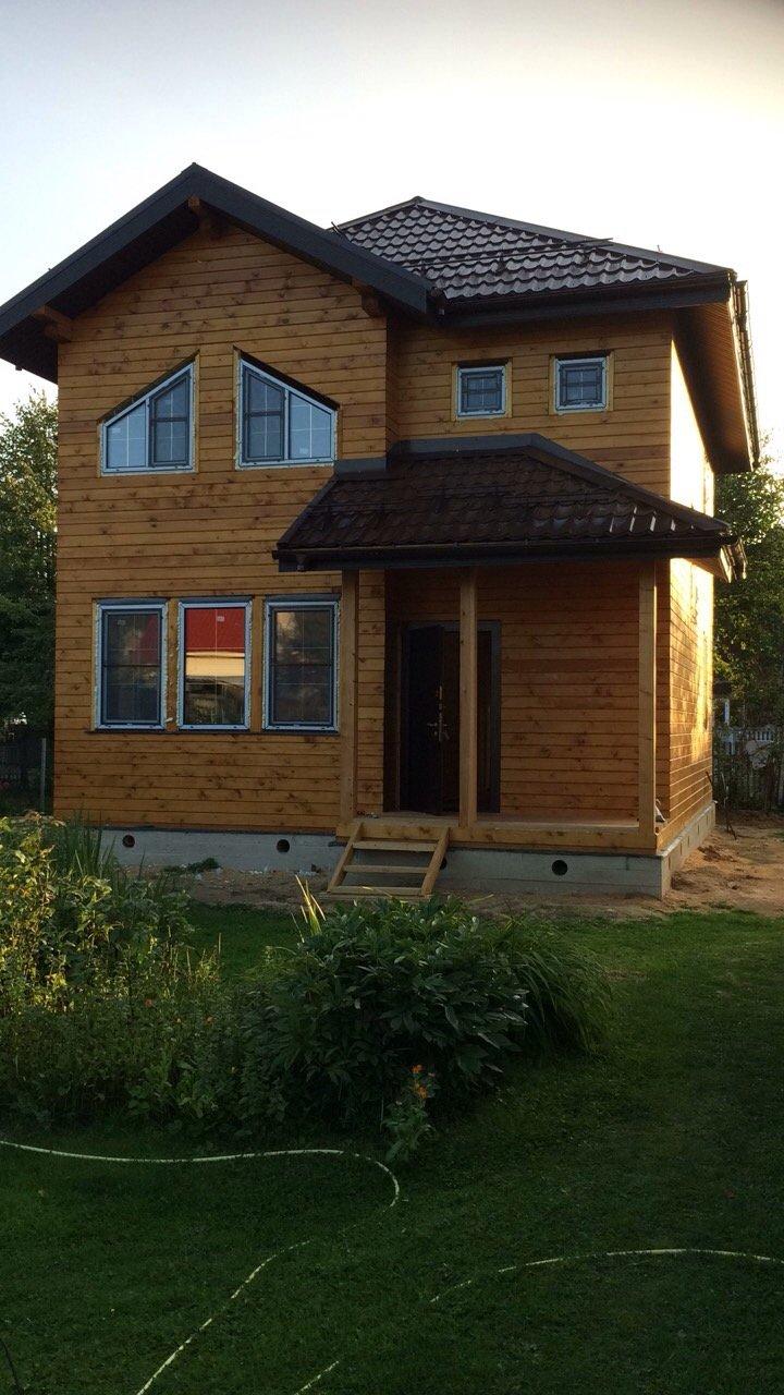 дом из профилированного бруса построенный по проекту Вариант 9.3 А фотография 5658