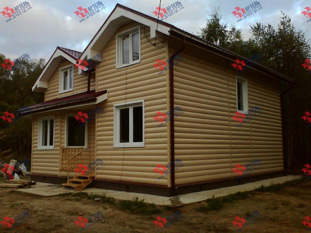 дом из бруса построенный по проекту Вариант 9 Г фотография 3800