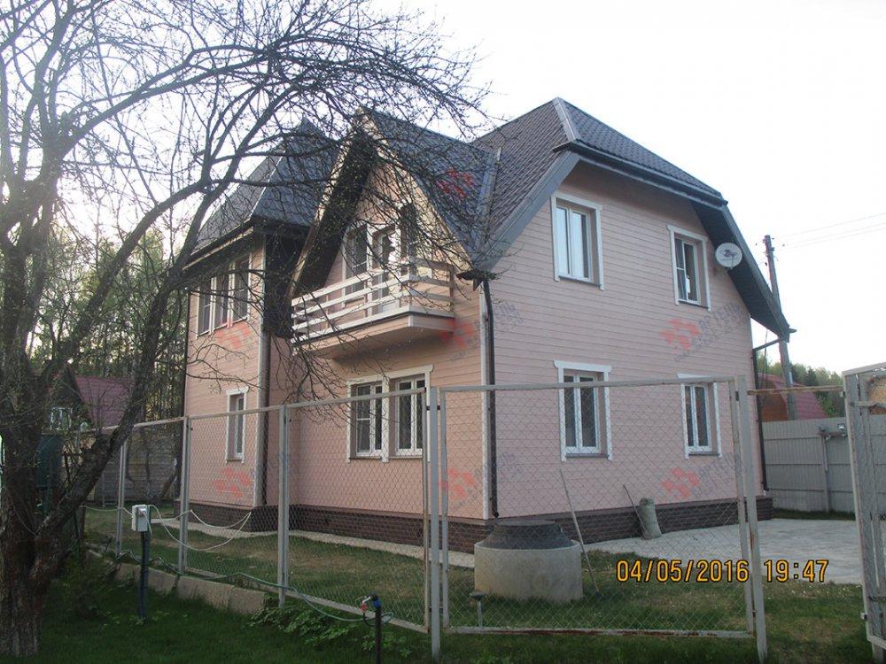 дом из профилированного бруса построенный по проекту Вариант 9 К фотография 4803