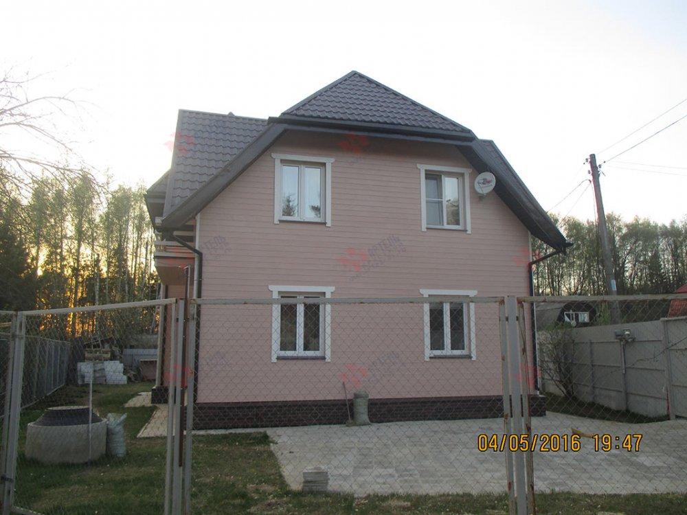 дом из профилированного бруса построенный по проекту Вариант 9 К фотография 4805