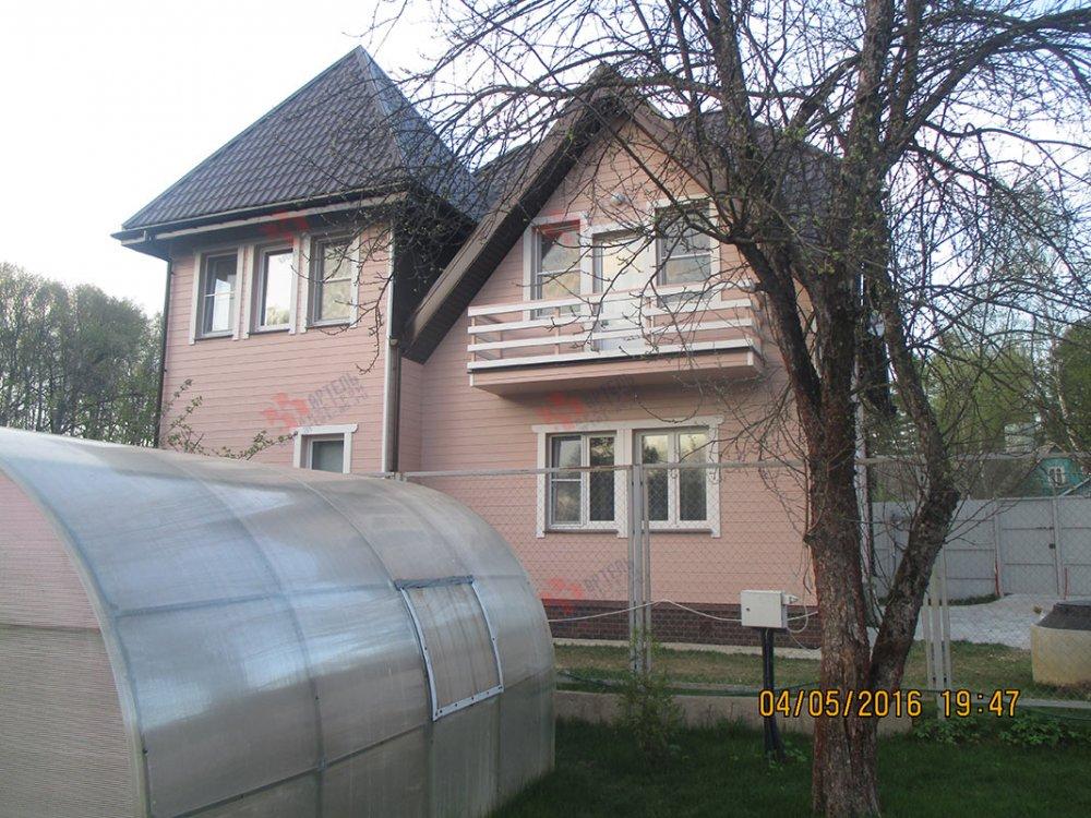 дом из профилированного бруса построенный по проекту Вариант 9 К фотография 4804