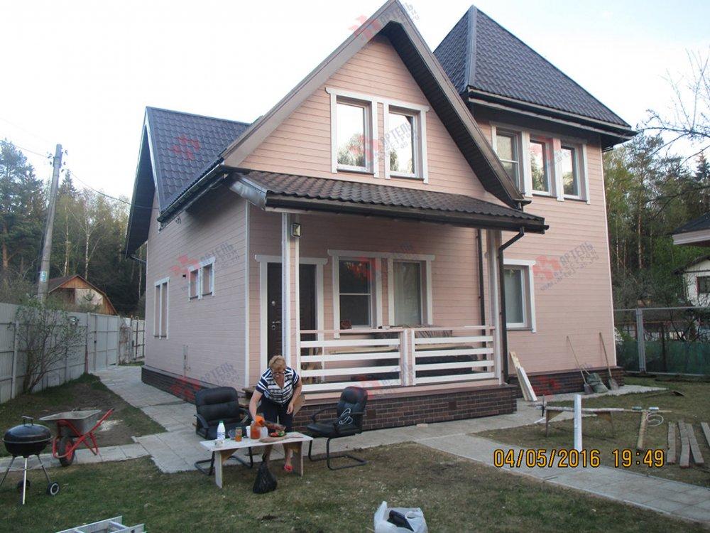дом из профилированного бруса построенный по проекту Вариант 9 К фотография 4802