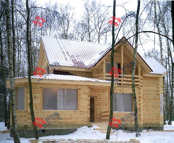 дом из бруса построенный по проекту Вариант 9 В фотография 1825