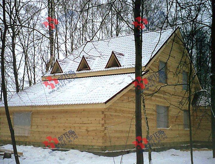 дом из бруса построенный по проекту Вариант 9 В фотография 1826
