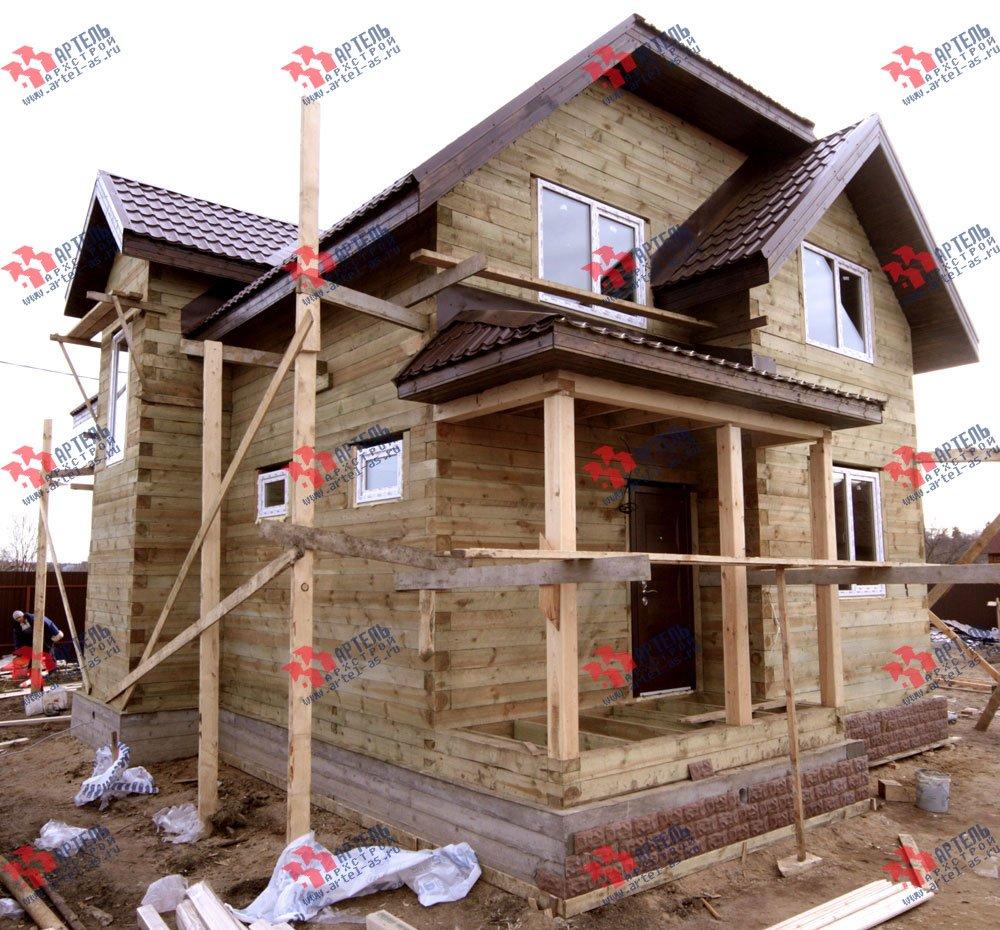 дом из бруса построенный по проекту Вариант 9.3 В фотография 3259