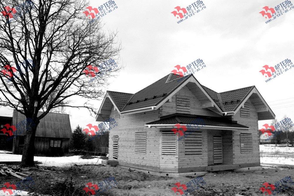 дом из бруса построенный по проекту Вариант 9 Г фотография 2447