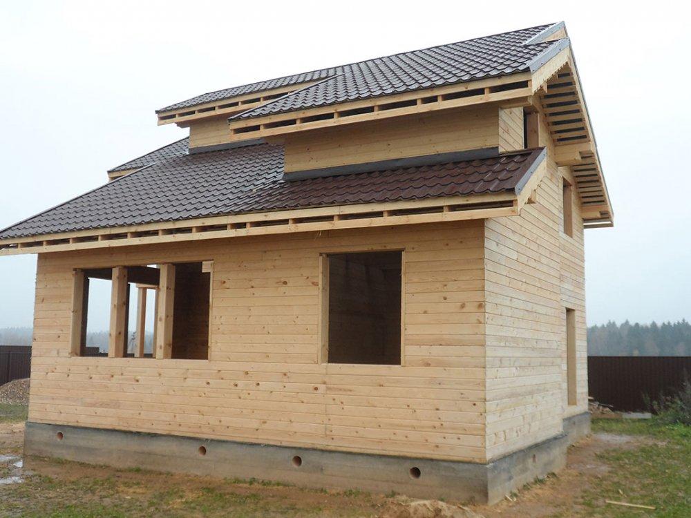 дом из профилированного бруса построенный по проекту Вариант 9.3 К фотография 4856