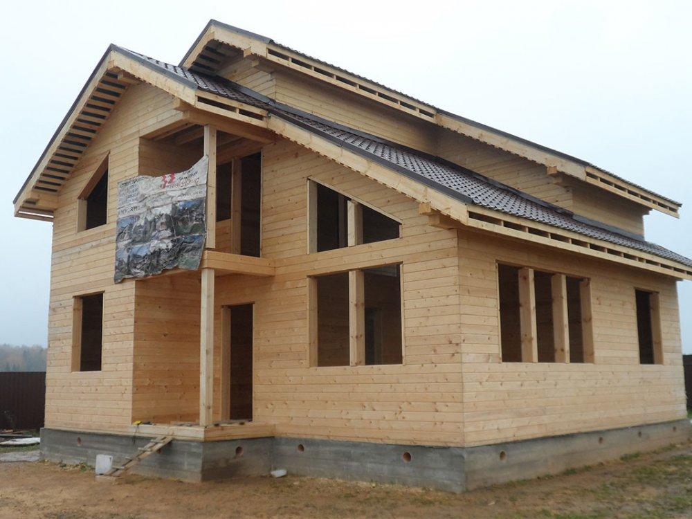 дом из профилированного бруса построенный по проекту Вариант 9.3 К фотография 4853