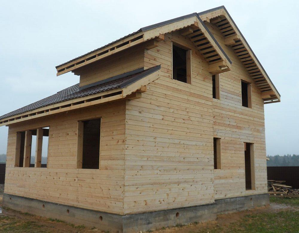дом из профилированного бруса построенный по проекту Вариант 9.3 К фотография 4854