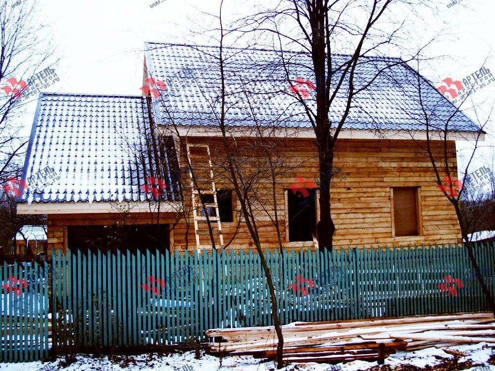 дом из бруса построенный по проекту Вариант 8 О фотография 1744