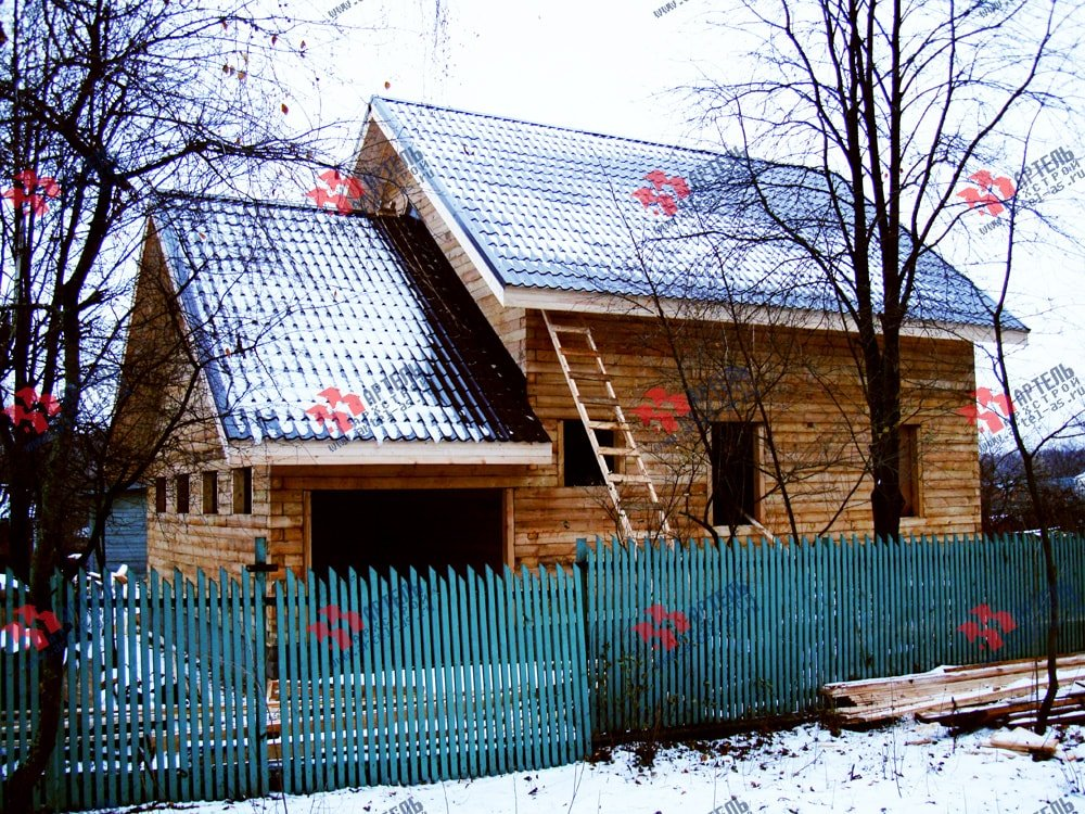 дом из бруса построенный по проекту Вариант 8 О фотография 1745
