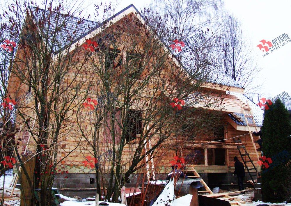 дом из бруса построенный по проекту Вариант 8 О фотография 1747
