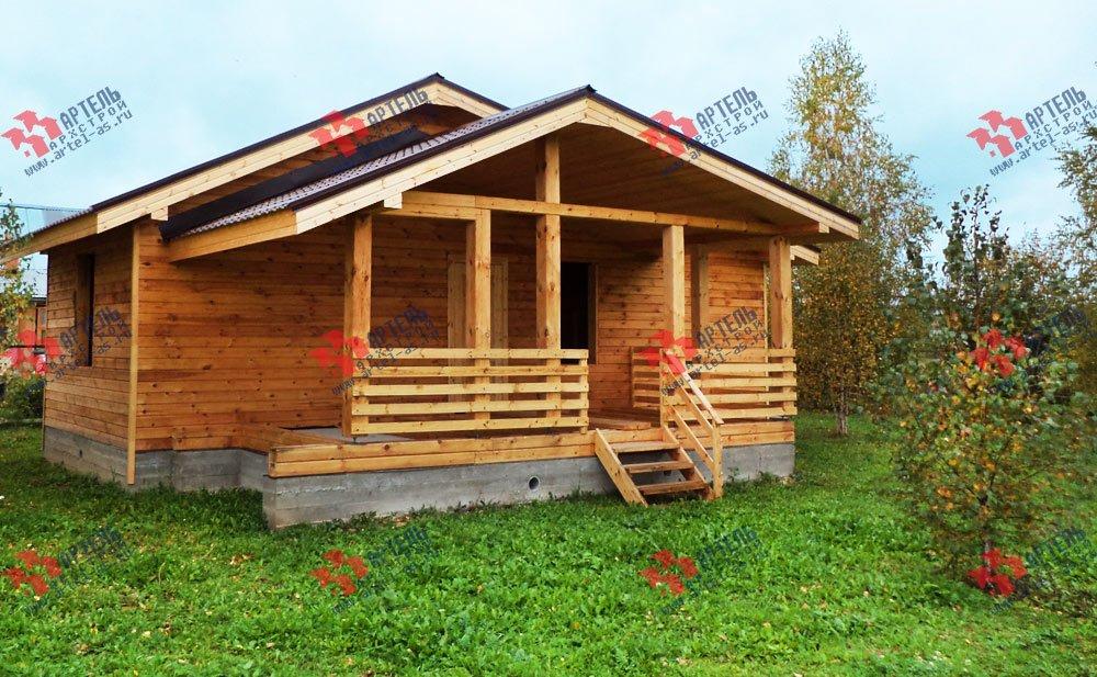 дом из профилированного бруса построенный по проекту Вариант 5 фотография 2648
