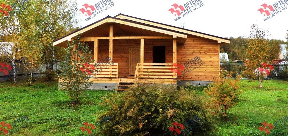 дом из профилированного бруса построенный по проекту Вариант 5 фотография 2650