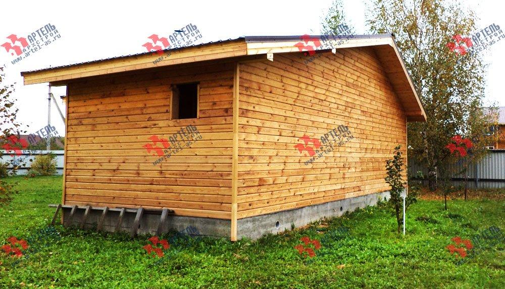 дом из профилированного бруса построенный по проекту Вариант 5 фотография 2651