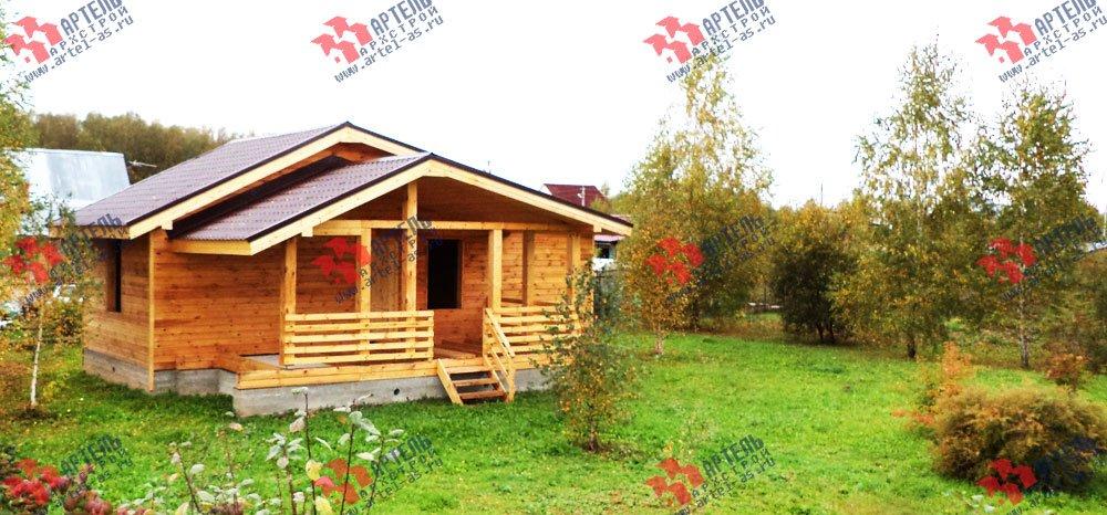 дом из профилированного бруса построенный по проекту Вариант 5 фотография 2653
