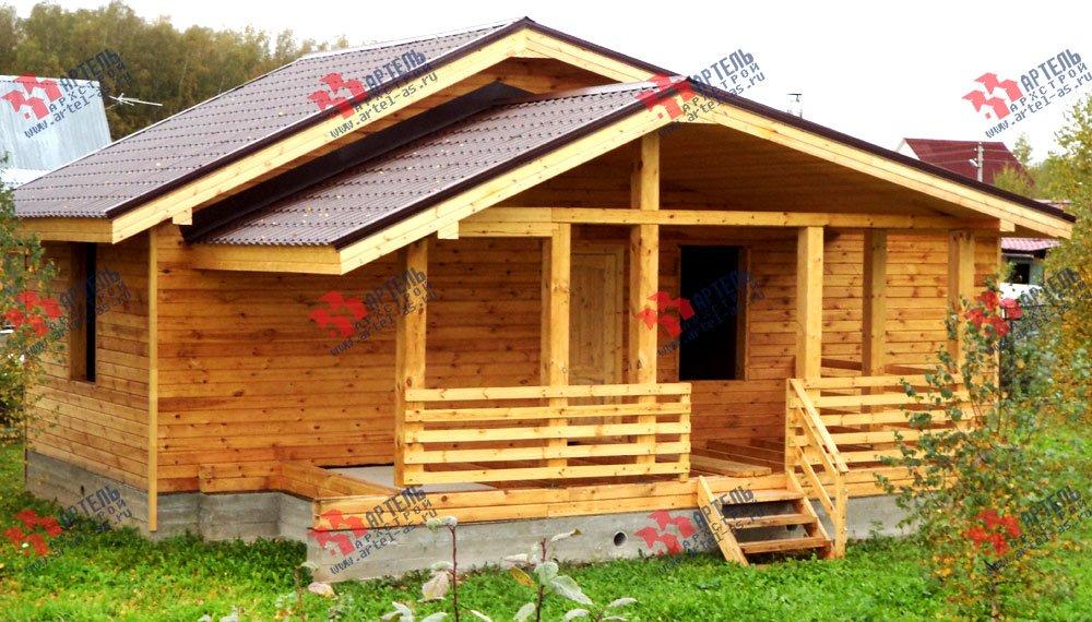 дом из профилированного бруса построенный по проекту Вариант 5 фотография 2654