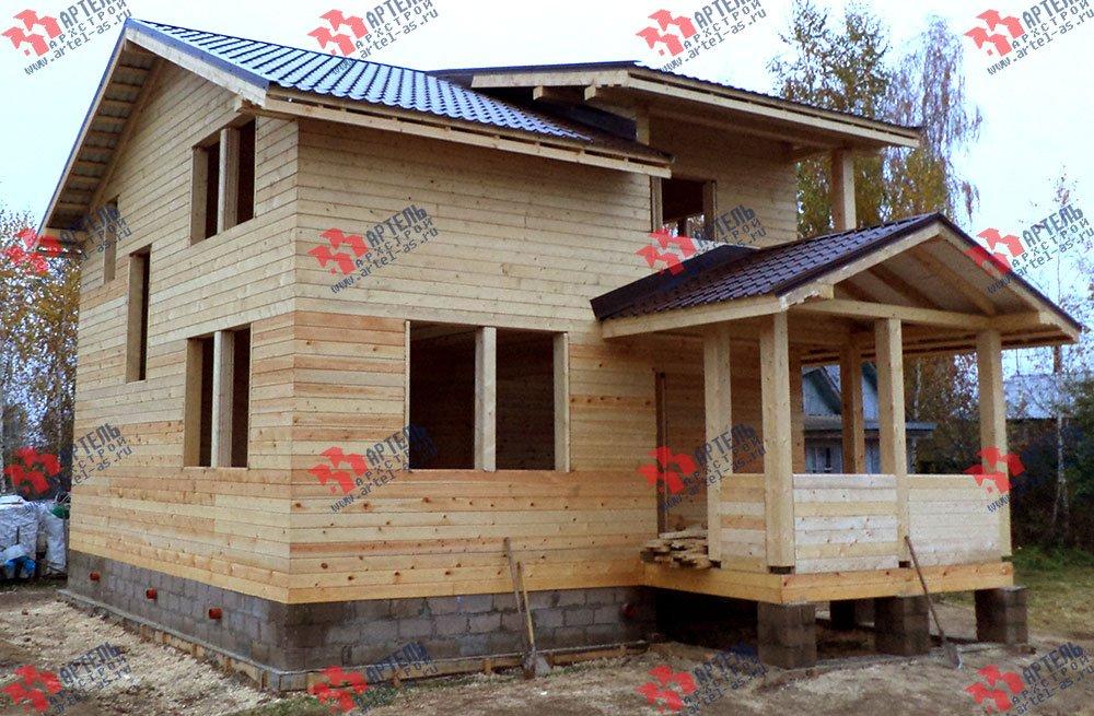 дом из бруса построенный по проекту Вариант 8 М фотография 2778