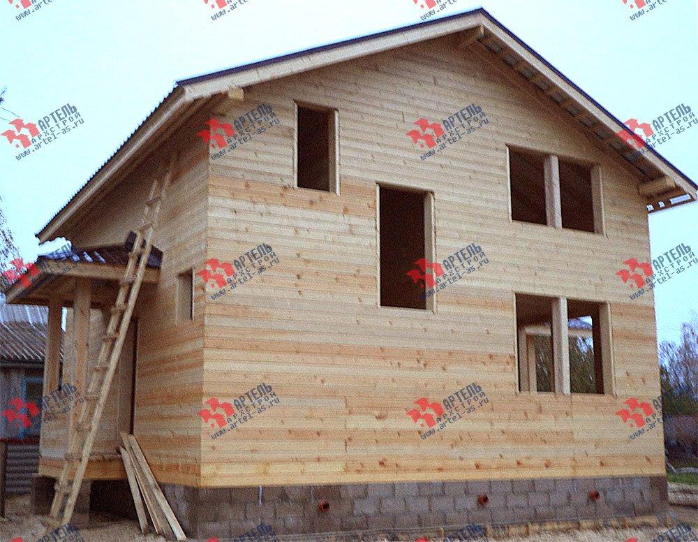 дом из бруса построенный по проекту Вариант 8 М фотография 2780
