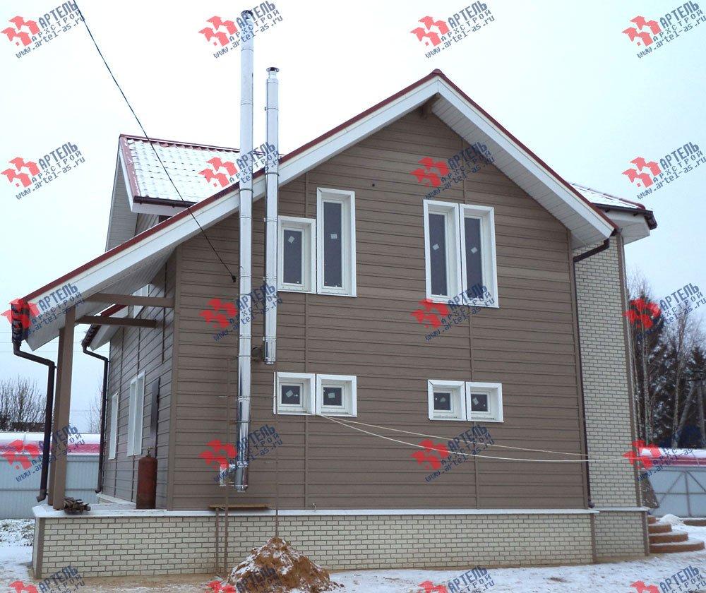 дом из бруса построенный по проекту Вариант 8.8 А фотография 3128