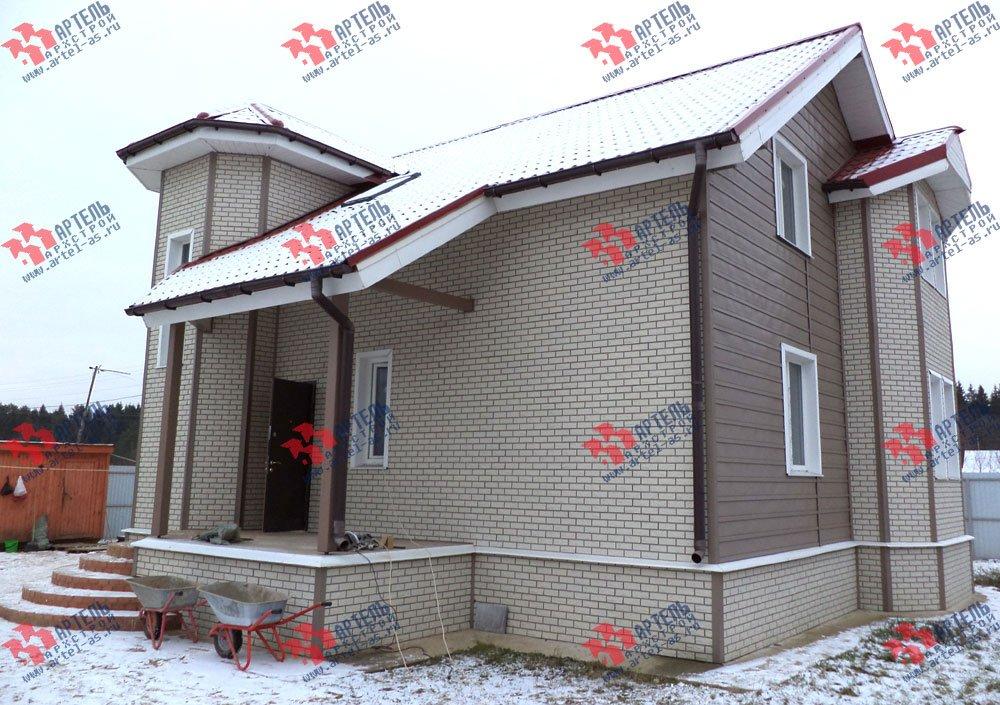 дом из бруса построенный по проекту Вариант 8.8 А фотография 3130