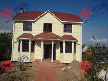дом из бруса построенный по проекту Вариант 7 Б фотография 1699
