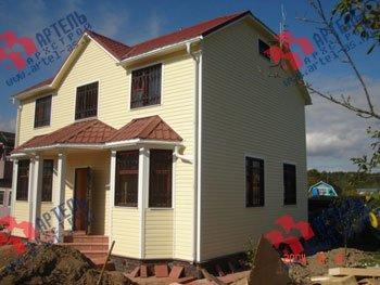 дом из бруса построенный по проекту Вариант 7 Б фотография 1700