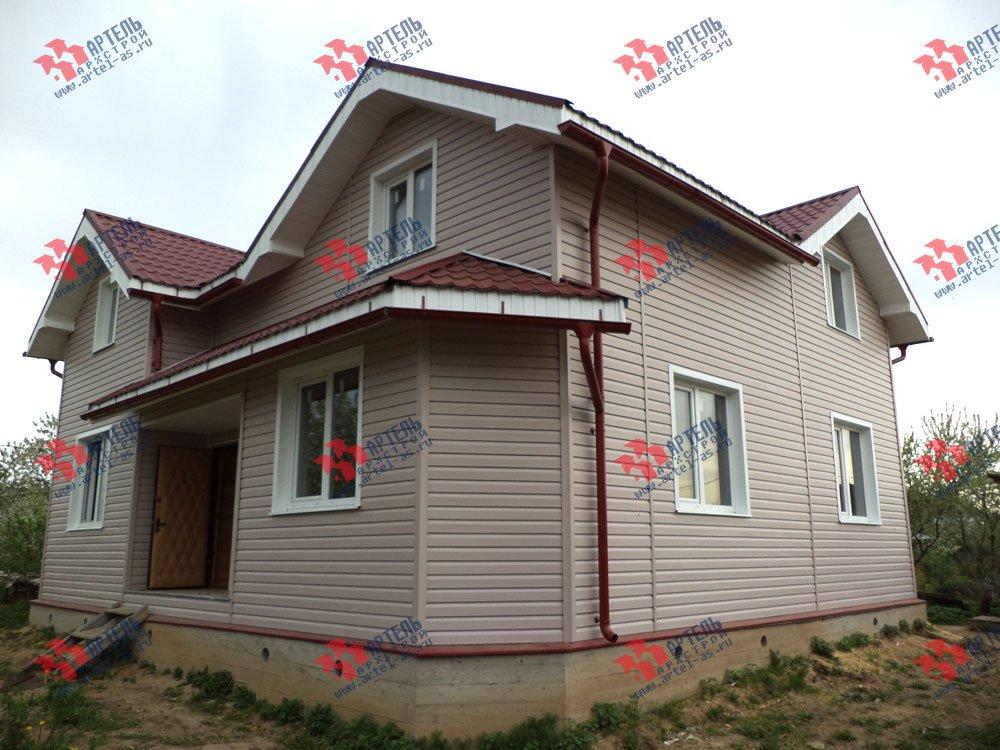 дом из бруса построенный по проекту Вариант 9.5 А фотография 3250
