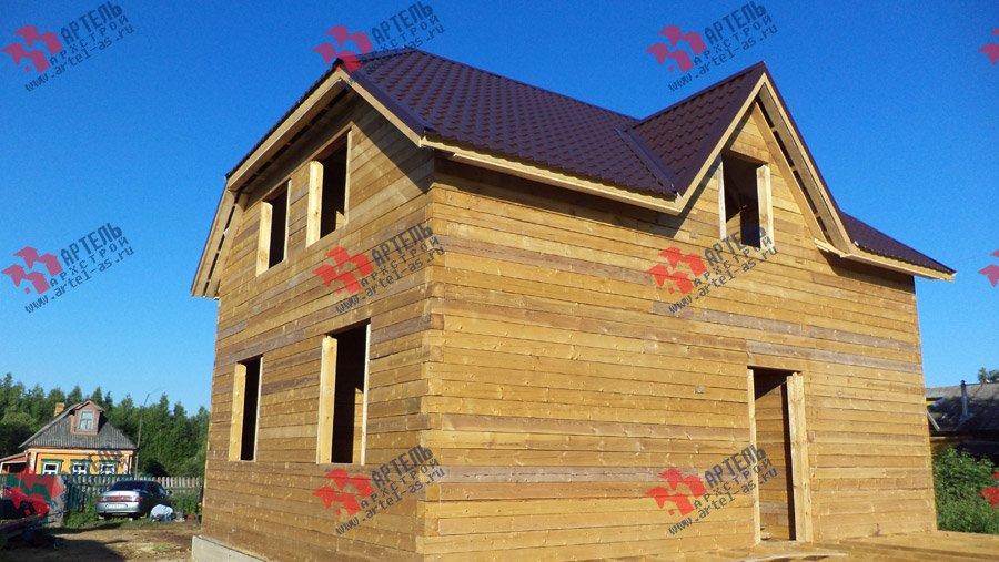 дом из бруса построенный по проекту Вариант 8 М фотография 3555